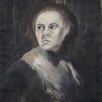 Dorothea Marian muodonmuutos // Dorothea Maria's metamorphosis, oil on paper, 40x49 cm, 2010.