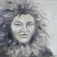 Jääkuiskaaja // Ice whisperer, oil on mdf, 60 x 46,5 cm, 2010.