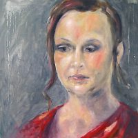 Keskittyminen // Concentration, oil on mdf, 46,5 x 46,5 cm, 2010.