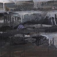 Maan hiljaiset, Oil & acrylics on canvas, 80x30 cm, 2012.