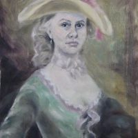 Miss Stepford, oil on paper, 2010.