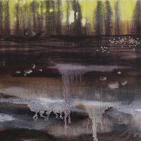 Myyrän iltapäivä. Oil & acrylics on canvas, 80x30 cm, 2012.