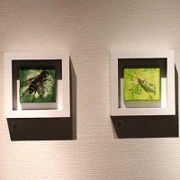 P, M, H & K. Oil & acrylics on canvas, 10x10 cm, 2012.