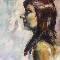 Sara, acrylic on paper, 42x59 cm, 2009.