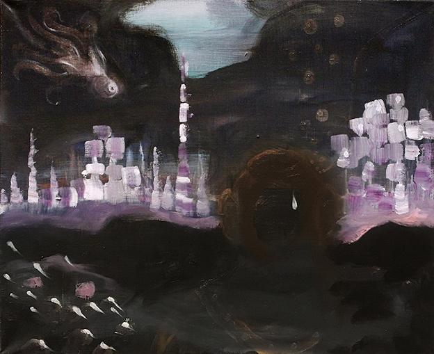 Kyynel - Tear (2013–2019), oil on canvas, 45x60 cm.